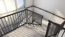 Quick and easy assembly with the aluminium stairwell balustrade from MultiBal